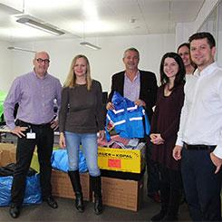 Employees of Sberbank Europe donated warm clothes for people in need